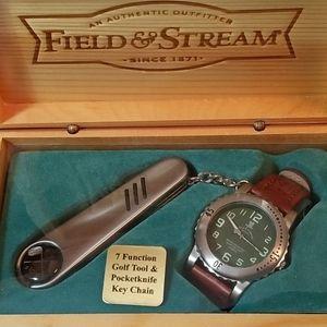 Field & Stream 30M/100Ft WR Watch & Keychain